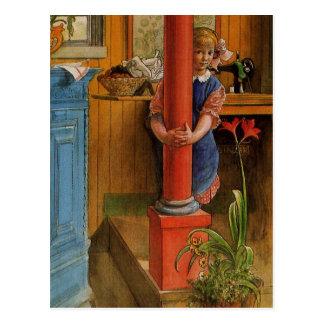 Schüchterne Enkelin 1918 Postkarte