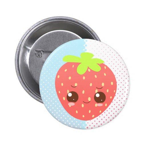 Schüchterne Erdbeere Anstecknadelbuttons