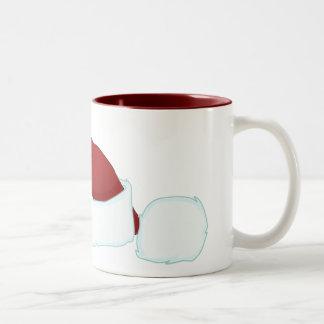 Schüchterne Weihnachtsmaus Zweifarbige Tasse