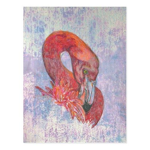 Schüchterner Flamingo Postkarten