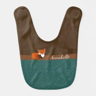 Schüchterner Fox personalisiert Lätzchen