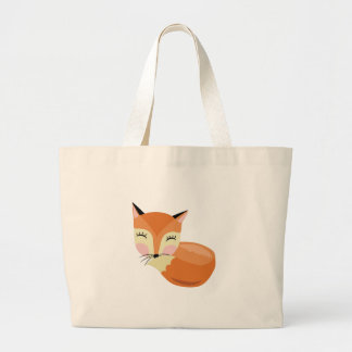 Schüchterner Fox Jumbo Stoffbeutel