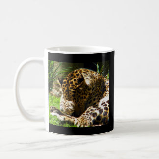 Schüchterner Leopard Kaffeetasse