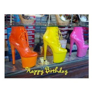 Schuh-alles Gute zum Geburtstag Postkarte