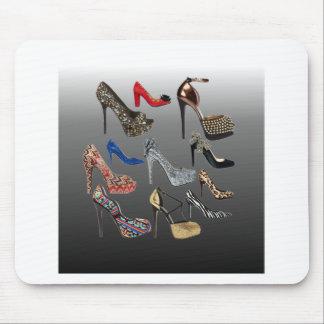 Schuh-fertigen hohe Heels-Collage besonders an Mousepad