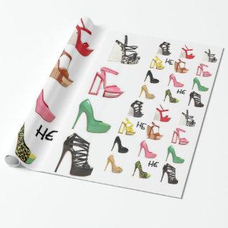 Schuh-Geburtstags-Packpapier des Jugendlichen für Geschenkpapier