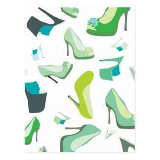 Schuh-Monster für das Leben Postkarte