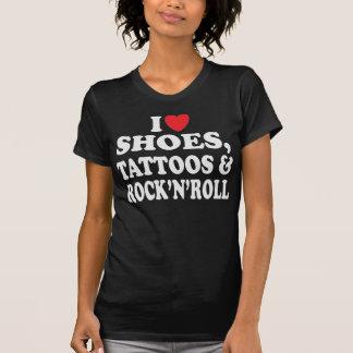 Schuh-Tätowierungen u. Rock'n'Roll-T-Shirt T-Shirt