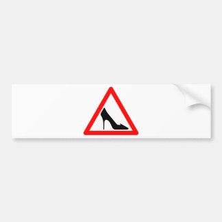 Schuh-Warnzeichen Auto Sticker