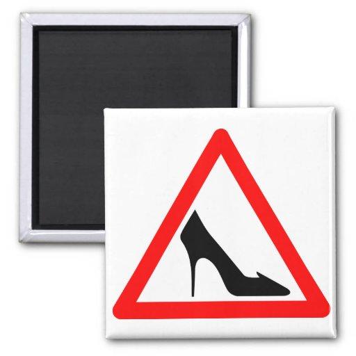 Schuh-Warnzeichen Kühlschrankmagnete