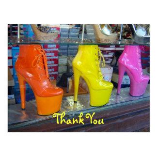 Schuhe danken Ihnen Postkarte