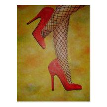 Schuhe der Sachen-zwei Postkarte