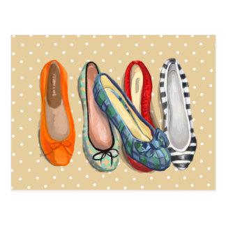 Schuhe - kleine Pantoffel Postkarten