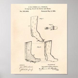 Schuhe und Patent-Kunst altes Peper der Poster