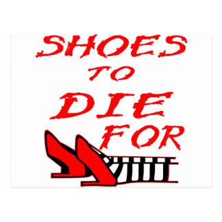 Schuhe, zum für zu sterben postkarten