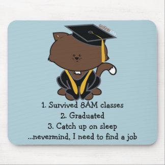 SchulAbschluss-Kappen-und Kleiderkatze Mousepad
