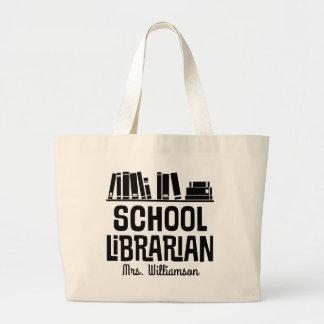 Schulbibliothekar-personalisierte Jumbo Stoffbeutel