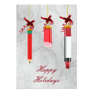 Schulbriefpapier verziert Lehrer Weihnachtskarte 12,7 X 17,8 Cm Einladungskarte