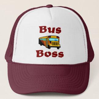 Schulbus-Fahrer-Hut.  Bus-Chef Truckerkappe