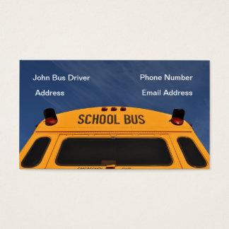 Schulbus-Fahrer-Visitenkarte Visitenkarte
