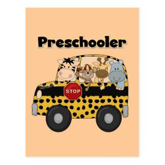 Schulbus-Vorschüler-T-Shirts und Geschenke Postkarte