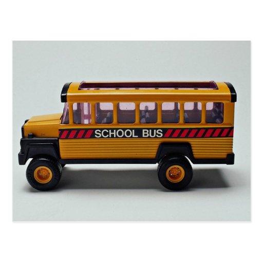 Schulbusspielzeug für Kinder Postkarten