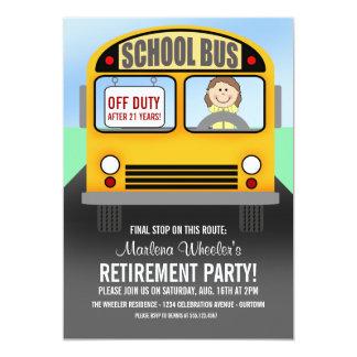 Schulbustreiber-Ruhestands-Party Einladungen