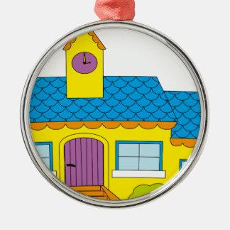 SchulCartoon Silbernes Ornament