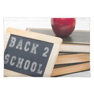 Schule der Rückseiten-2 Stofftischset