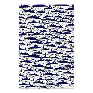 Schule des Bluefin-Thunfischs Briefpapier