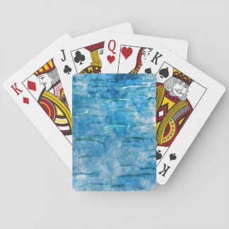 Schule des Fisch-Aquarells Spielkarten