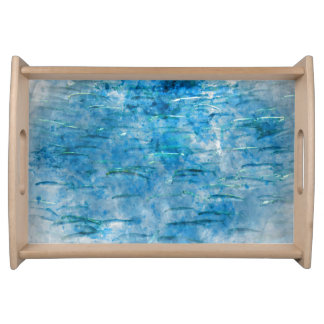 Schule des Fisch-Aquarells Tablett