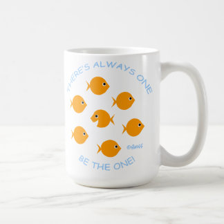Schule Goldfisch-des inspirierend Lehrer-Mottos Kaffeetasse