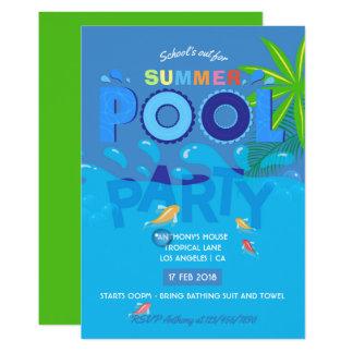 Schule heraus für Sommer-Pool-Party Einladung