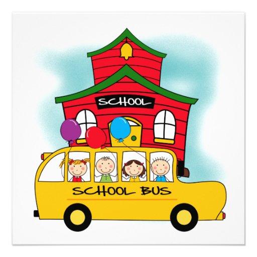 Schule und Schulbus-T-Shirts und Geschenke Individuelle Ankündigung