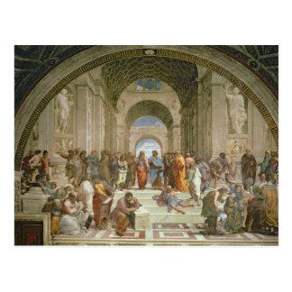 Schule von Athen, vom Stanze della Postkarte
