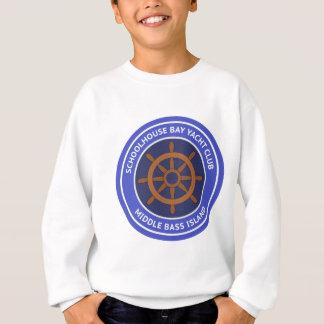 Schulhaus-Bucht-Yachtclub-Logo-Einzelteil Sweatshirt
