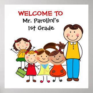Schulklassenzimmer-Willkommens-Plakat Poster
