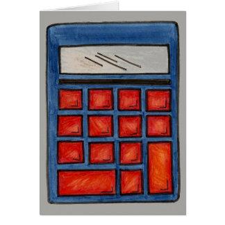 Schullehrer-Bildungs-Mathe-Nerd-Taschenrechner Karte