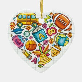 Schullehrer - danke keramik Herz-Ornament