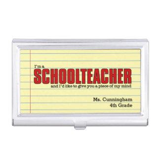 Schullehrer-Fall für kundenspezifische Visitenkarten Etui