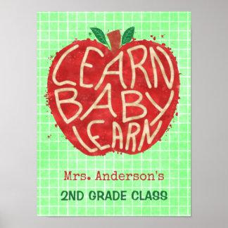 Schullehrer-Klassenzimmer Apple   lernen Namen des Poster