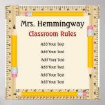 Schullehrer-Klassenzimmer-Regeln/Ziele - SRF Plakatdrucke