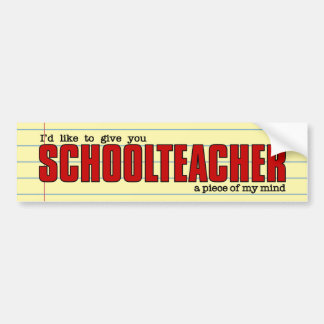 Schullehrer-Stück lustigen Gewohnheit der Autoaufkleber
