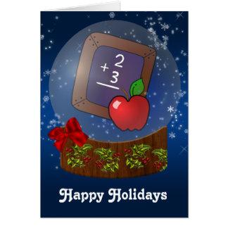 Schullehrer Weihnachtskarten Karte
