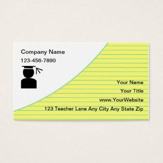 Schulprivatunterricht-Visitenkarten Visitenkarte
