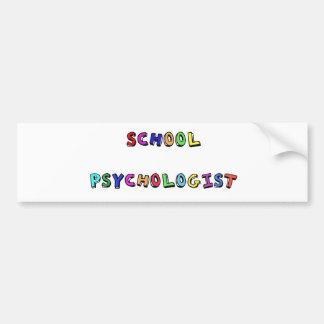 SCHULpsychologe Autoaufkleber