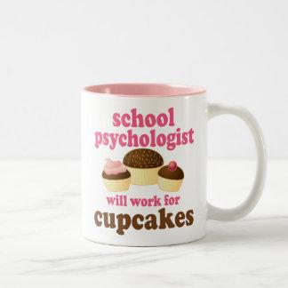 Schulpsychologe-(lustiges) Geschenk Zweifarbige Tasse