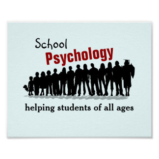 Schulpsychologie: Allen Studenten (Plakat) helfen Poster