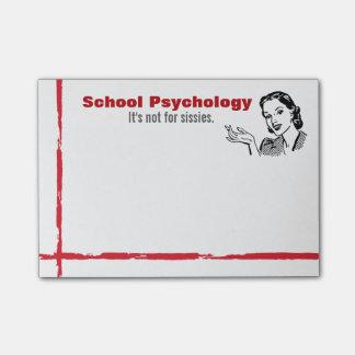 Schulpsychologie-Richtung der Post-it Haftnotiz